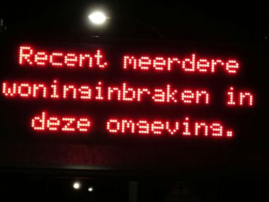 Waarschuwing inbraak Volendam